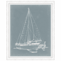 Yacht Sketches I Framed Print
