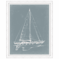 Yacht Sketches II Framed Print