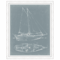 Yacht Sketches III Framed Print