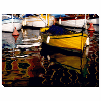 Yellow Boat Indoor/Outdoor Canvas Art