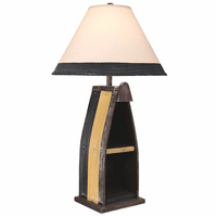 Yellow Stripe Boat Table Lamp