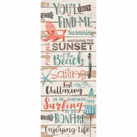 You'll Find Me Beach Wood Sign