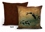 "18"" Evening Retreat Canada Geese Square Throw Pillows, Set of 4"