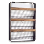 3 Numbered Wire Baskets Wall Rack Bin