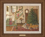 A Christmas Morning Limited Edition Framed Canvas Giclee Art Print