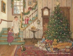 A Christmas Morning Limited Edition Wrapped Canvas Giclee Art Print