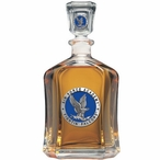 Air Force Academy Falcons Blue Capitol Glass Decanter with Pewter