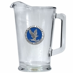 Air Force Academy Falcons Blue Glass Pitcher with Pewter Accent