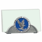 Air Force Academy Falcons Blue Metal Business Card Holder with Pewter