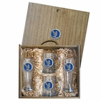 Air Force Academy Falcons Blue Pewter Accent Beer Box Set