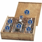 Air Force Academy Falcons Blue Pewter Accent Capitol Decanter Box Set
