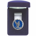 Air Force Academy Falcons Blue Pewter Accent Steel Money Clip