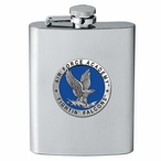 Air Force Academy Falcons Blue Stainless Steel Flask w/ Pewter Accent