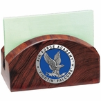Air Force Academy Falcons Blue Wood Business Card Holder with Pewter