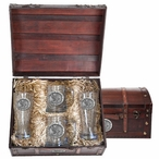 Air Force Academy Falcons Pewter Accent Beer Chest Box Set