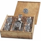 Air Force Academy Falcons Pewter Accent Capitol Decanter Box Set