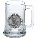 Air Force Academy Falcons Pewter Accent Glass Beer Mug