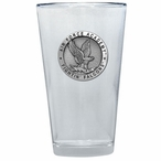 Air Force Academy Falcons Pewter Accent Pint Beer Glasses, Set of 2