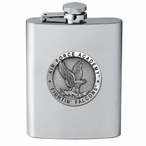 Air Force Academy Falcons Stainless Steel Flask with Pewter Accent