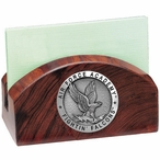 Air Force Academy Falcons Wood Business Card Holder with Pewter Accent