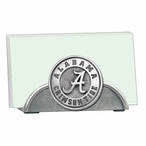 Alabama Crimson Tide Metal Business Card Holder with Pewter Accent