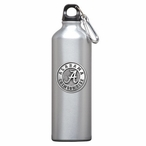 Alabama Crimson Tide Pewter Accent Stainless Steel Water Bottle