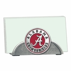 Alabama Crimson Tide Red Metal Business Card Holder with Pewter Accent