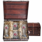Alabama Crimson Tide Red Pewter Accent Beer Chest Box Set