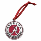 Alabama Crimson Tide Red Pewter Accent Ornaments, Set of 2