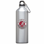 Alabama Crimson Tide Red Pewter Accent Stainless Steel Water Bottle