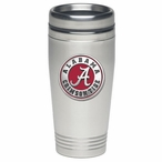 Alabama Crimson Tide Red Stainless Steel Travel Mug with Pewter Accent