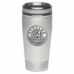 Alabama Crimson Tide Stainless Steel Travel Mug with Pewter Accent