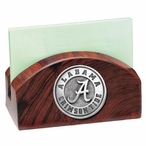 Alabama Crimson Tide Wood Business Card Holder with Pewter Accent