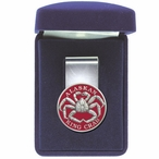 Alaskan King Crab Red Steel Money Clip with Pewter Accent