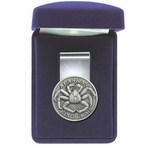 Alaskan King Crab Steel Money Clip with Pewter Accent