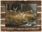 All Good Things Whitetail Deer Wrapped Canvas Art Print on Wood Pallet
