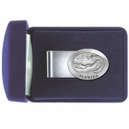 Alligator with Florida Steel Money Clip with Pewter Accent