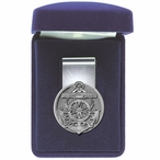 Anchor Steel Money Clip with Pewter Accent