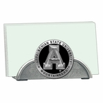 Appalachian State Black Metal Business Card Holder with Pewter Accent