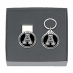 Appalachian State Black Pewter Accent Money Clip & Key Chain Gift Set