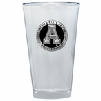 Appalachian State Black Pewter Accent Pint Beer Glasses, Set of 2