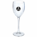 Appalachian State Black Pewter Accent Wine Glass Goblets, Set of 2