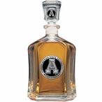 Appalachian State Mountaineers Black Capitol Glass Decanter w/ Pewter
