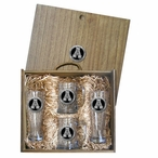 Appalachian State Mountaineers Black Pewter Accent Beer Box Set