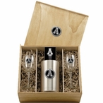 Appalachian State Mountaineers Black Pewter Accent Wine Box Set