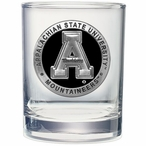 Appalachian State Mountaineers Black Pewter DOF Glasses, Set of 2