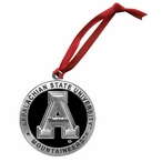 Appalachian State Mountaineers Black Pewter Ornaments, Set of 2