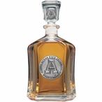 Appalachian State Mountaineers Capitol Glass Decanter with Pewter