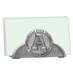 Appalachian State Mountaineers Metal Business Card Holder with Pewter