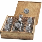 Appalachian State Mountaineers Pewter Accent Capitol Decanter Box Set
